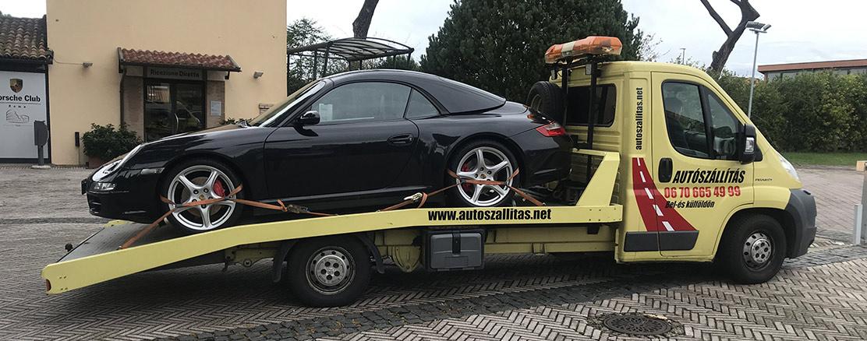 Autószállítás olaszországba Rómába porsche 911 carrera 4s